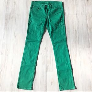Green Straight Fit Pants